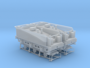 812 Tender 3000g DOUBLE Pack & EM-P4 Chassis in Smooth Fine Detail Plastic