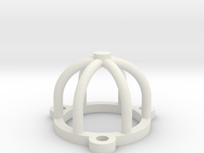 Tube or Valve Cage Protector birdcage in White Natural Versatile Plastic