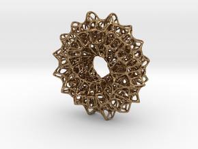 Möbius Net in Natural Brass