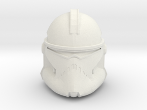 Neyo/Fordo/BARC Trooper Helmet | CCBS Scale in White Natural Versatile Plastic