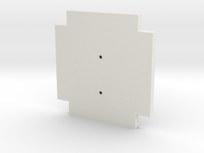 Life3D Capsule - Camera Plate Template in White Strong & Flexible