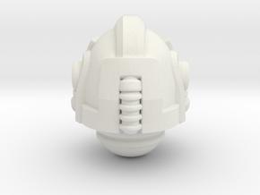 Scifi Knight Helm 1 in White Natural Versatile Plastic