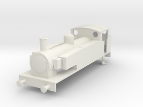 b-76-metropolitan-hunslet-0-6-0-loco in White Natural Versatile Plastic