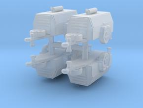 Compressor Trailer (x4) 1/200 in Smooth Fine Detail Plastic