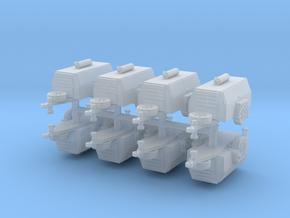 Compressor Trailer (x8) 1/285 in Smooth Fine Detail Plastic