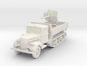Ford V3000 Maultier Flak 38 early 1/76 in White Natural Versatile Plastic