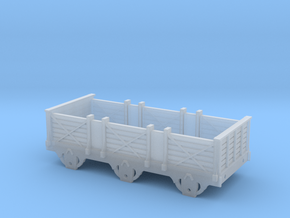 Broad Gauge 3rd Class 6-Wheel Coach (N Scale) in Smooth Fine Detail Plastic