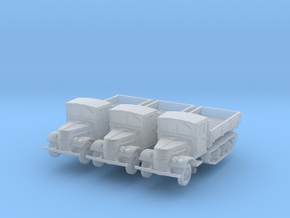 Ford V3000 Maultier late (x3) 1/285 in Smooth Fine Detail Plastic