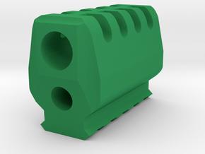 J.W. Compensator V3 (12mm Self-Cutting) for P226 in Green Processed Versatile Plastic