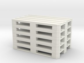 Euro Pallet Stack 1/35 in White Natural Versatile Plastic