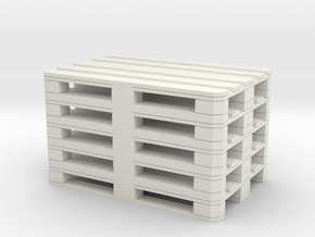 Euro Pallet Stack 1/12 in White Natural Versatile Plastic