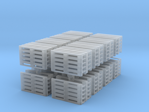 Euro Pallet Stack (x16) 1/120 in Smooth Fine Detail Plastic