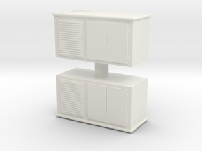 Electrical Cabinet (x2) 1/87 in White Natural Versatile Plastic