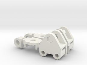 Tamiya Truck European Conversion kit front axle in White Natural Versatile Plastic