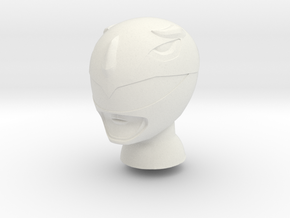 8 in MMPR Blue Helmet in White Natural Versatile Plastic