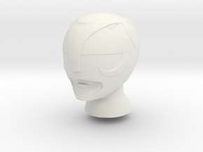 8 in MMPR Black Helmet in White Natural Versatile Plastic