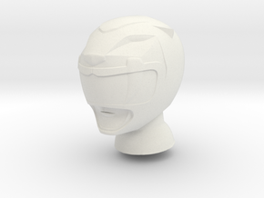 8 in MMPR Yellow Helmet in White Natural Versatile Plastic