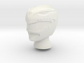 8 in MMPR Green Helmet in White Natural Versatile Plastic