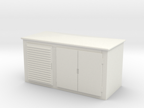 Electrical Cabinet 1/43 in White Natural Versatile Plastic