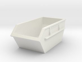 Construction Waste Container 1/87 in White Natural Versatile Plastic