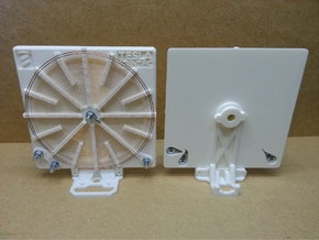 Stand For 140mm Tesla Flat Spiral Coils in White Natural Versatile Plastic