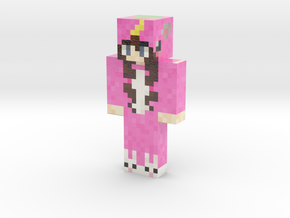 RealUnicornKitty | Minecraft toy in Glossy Full Color Sandstone