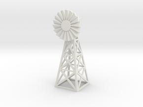 Steel Windmill 1/48 in White Natural Versatile Plastic