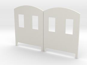 Bingley Works O-16.5 Coach kit ends - Windowed in White Natural Versatile Plastic