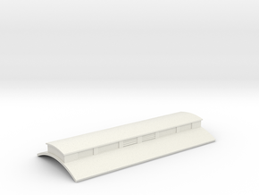 Bingley Works O-16.5 Coach kit roof - Clerestory in White Natural Versatile Plastic