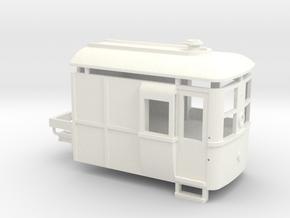 009 Sentinel Steam Railcar Tractor in White Processed Versatile Plastic