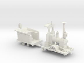 Far Twittering Locomotive Ethel in White Natural Versatile Plastic