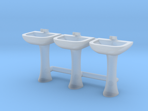 Sink 01. HO Scale (1:87) in Smoothest Fine Detail Plastic