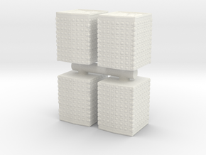 HESCO Sandbag Barrier (x4) 1/100 in White Natural Versatile Plastic