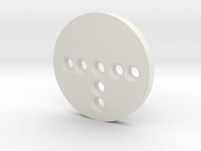 Pogo Pin Cap in White Natural Versatile Plastic