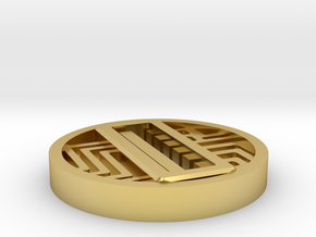 Circuit Switch Cover (12mm AV) in Polished Brass
