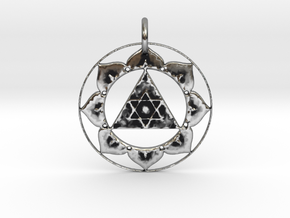 Lord Ganesha Yantra Pendant in Antique Silver