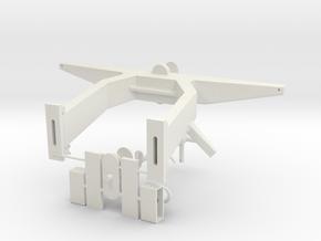 Antennemast 1 op 16 cpl in White Natural Versatile Plastic