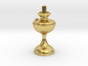 Kerosene lamp base in Polished Brass