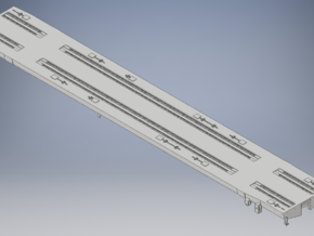 DODX Flatcar Deck and Frame in Smooth Fine Detail Plastic