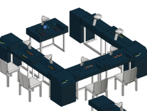SPACE 2999 1/48 ALPHA MOONBASE MAIN MISSION DESKS in Smooth Fine Detail Plastic