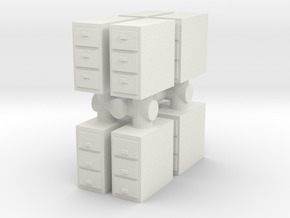 Office Cabinet (x8) 1/64 in White Natural Versatile Plastic