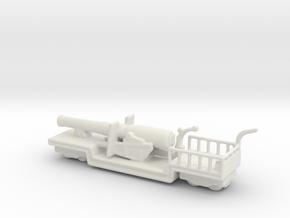9.2 mk 1 truck 1/144 ww1 railway artillery in White Natural Versatile Plastic