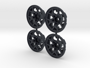 Axial SCX10 III - JL Rubicon Wheel Faces, (qty 4) in Black PA12