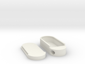 Keychain Pill Box in White Natural Versatile Plastic