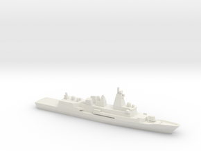 Anzac-class frigate (New Zealand Refitted), 1/1800 in White Natural Versatile Plastic
