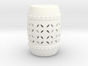 1:12 Garden Stool  in White Processed Versatile Plastic