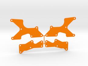 TLR 8X Arm Inserts in Orange Processed Versatile Plastic
