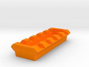 MPX 5 Slots Picatinny Rail in Orange Processed Versatile Plastic