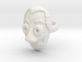 Dali ring in White Natural Versatile Plastic
