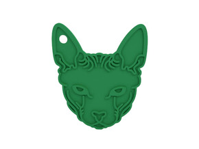Keychain in Green Processed Versatile Plastic